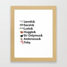 Labyrinth Names Framed Art Print