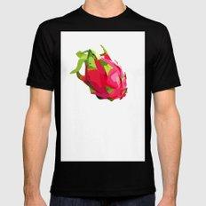 dragon fruit Black MEDIUM Mens Fitted Tee