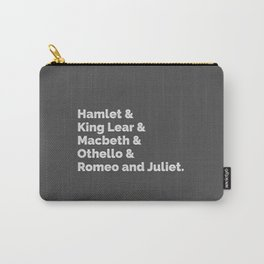 The Shakespeare Plays I Carry-All Pouch
