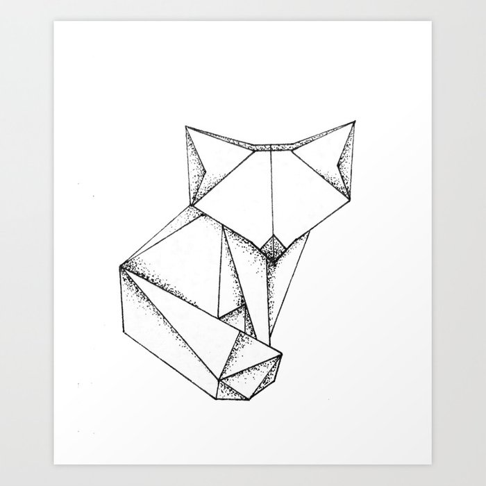 Origami Fox Art Print By Shellaeve Society6