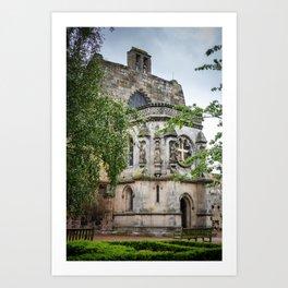 Rosslyn Chapel outside Edinburgh, Scotland Art Print