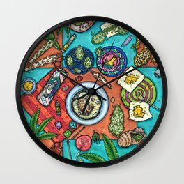 Ocean Grown : Cannabis Altar III Wall Clock