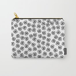 Black brush spirals Carry-All Pouch
