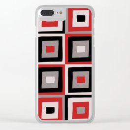 Squares Clear iPhone Case