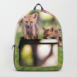 Baby Fox Pups at Play Backpack