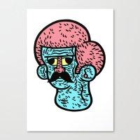 moustache Canvas Prints featuring Moustache by Joshua Neal