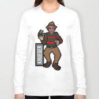 freddy krueger Long Sleeve T-shirts featuring Freddy Krueger by AhamSandwich