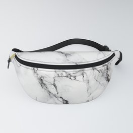 White Marble Texture Fanny Pack