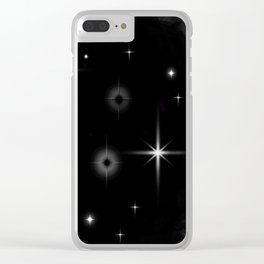 Starlight Starbright In The Night Galaxy Clear iPhone Case