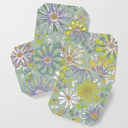 Spring meadow pattern Coaster