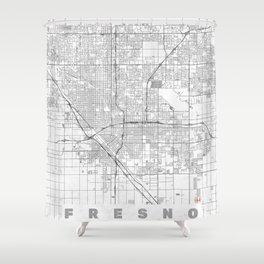 Fresno Map Line Shower Curtain
