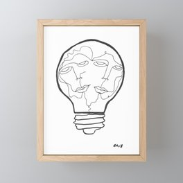 B Framed Mini Art Print