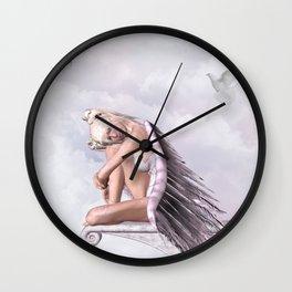 sad angel Wall Clock