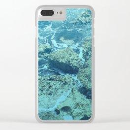 Carribean Rocks Clear iPhone Case