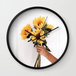 Sunflowers Wall Clock