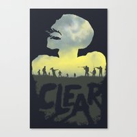 clear Canvas Prints featuring CLEAR by Kidney Theft
