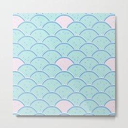 Mosaic Archs - Mint & Rose Metal Print