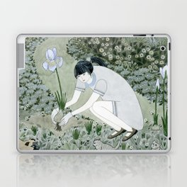 Planting Irises Laptop & iPad Skin