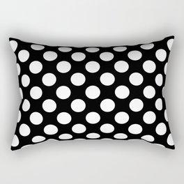 Black and white polka dots pattern Rectangular Pillow