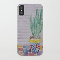 cactus iPhone & iPod Cases featuring Cactus by Rabbits In The Sky