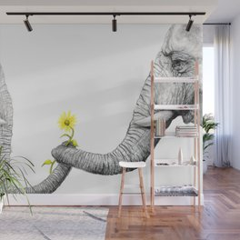 """""""Up Close You Are More Wrinkly Than I Remembered"""" Wall Mural"""