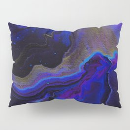 Dark Purple Blue Galaxy - Midnight Shades Pillow Sham
