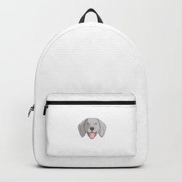 Weimaraner Mom For Life Dog Pun Backpack
