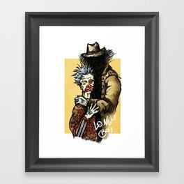 Lonely boy Framed Art Print