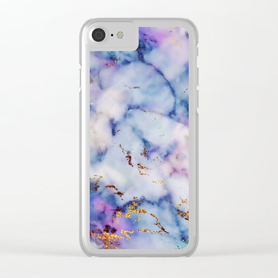 Marble Effect #6 Clear iPhone Case