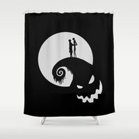 jack skellington Shower Curtains featuring Nightmare Jack Skellington by aleha