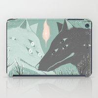 wolves iPad Cases featuring Wolves by Kelsey King Illustration
