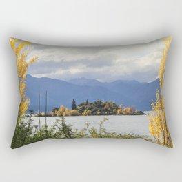 Trees in the Lake Rectangular Pillow