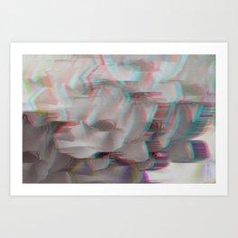 Lotus Glitch Art Print