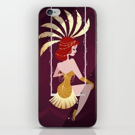 Vintage Circus - Scarlette iPhone Skin
