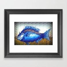 Blue Fish Framed Art Print