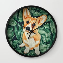 Mia the Corgi Wall Clock