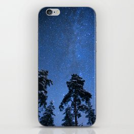 Shimmering Blue Night Sky Stars iPhone Skin