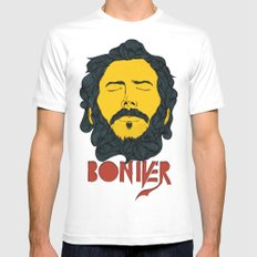 Bon Iver Mens Fitted Tee White X-LARGE
