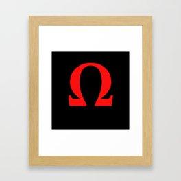 Ω omega Framed Art Print