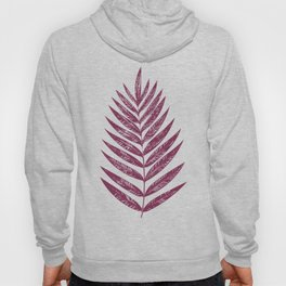 Simple Botanical Design in Dark Plum Hoody