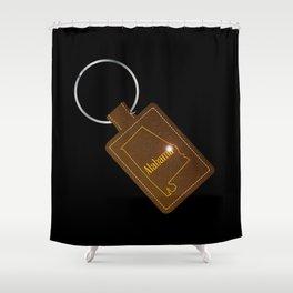 Alabama Leather Key Fob Shower Curtain