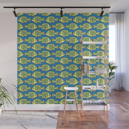 Tropical Fish in Pastel - Doodle Pattern Wall Mural