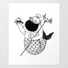 Chef Merman Art Print