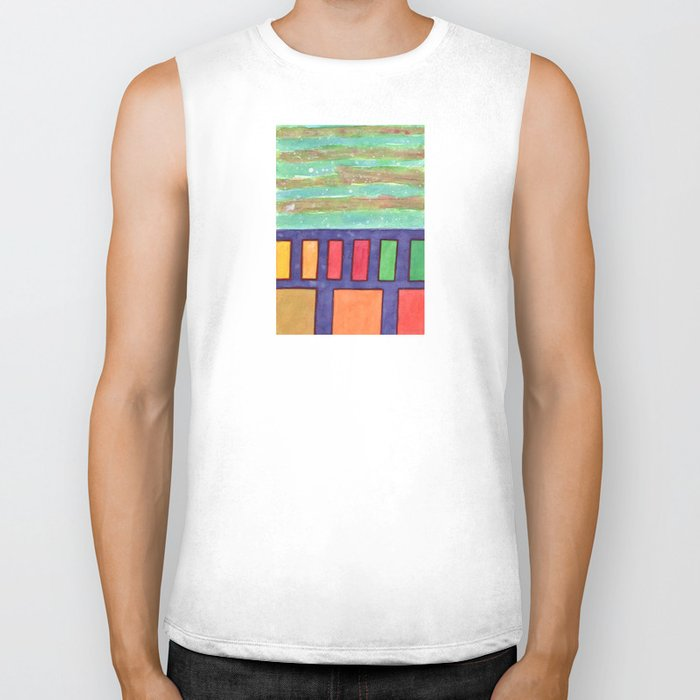 Building with colorful Windows Biker Tank