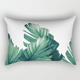 Green Banana Leaves Dream #1 #tropical #decor #art #society6 Rectangular Pillow