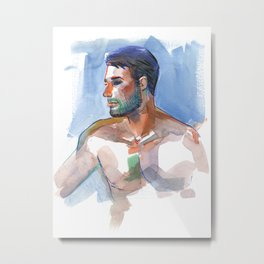 MATT, Semi-Nude Male by Frank-Joseph Metal Print