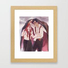 Summer rains Framed Art Print
