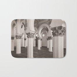 The Historic Arches in the Synagogue of Santa María la Blanca, Toledo Spain (2) Bath Mat