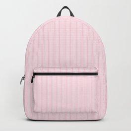 Light Soft Pastel Pink Mattress Ticking Stripes Backpack