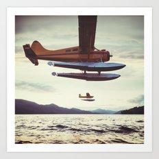 Fly me to Alaska Art Print